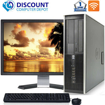 "HP Pro Desktop Computer PC Core i3 3.1GHz 4GB 250GB DVD Wifi 19"" LCD Windows 10 segunda mano  Embacar hacia Mexico"