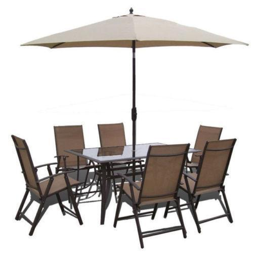 Garden table umbrella ebay for Patio table and umbrella sets