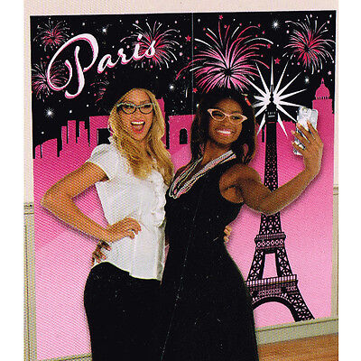 BRIDAL SHOWER Day in Paris SELFIE BACKDROP (2pc) ~ Wedding Party Supplies Poster