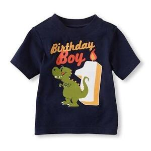Baby Boys First Birthday Shirt Toddler 1st Gift Kids Party Cotton T Top