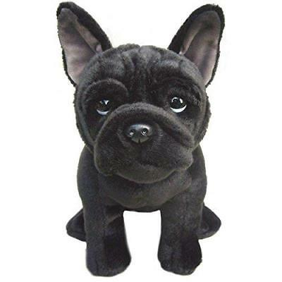 French Bulldog Stuffed Animal Black Dog Cute Soft Cuddly Toy Realistic Plush ()