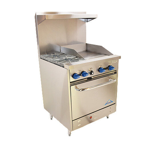 "Comstock Castle F326-18 30"" Gas Restaurant Range With Griddle"