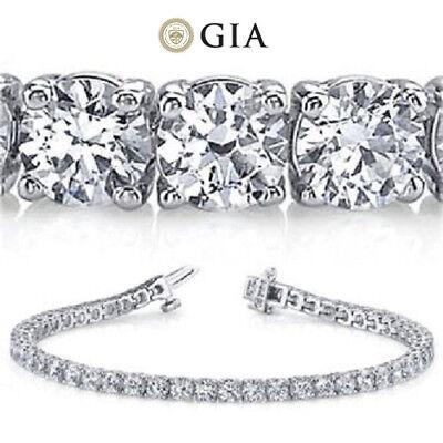 20.52 ct Round Diamond Tennis Bracelet 18k white Gold GIA G SI1 27 x 0.74-.76 ct