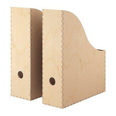 """IKEA Zeitschriftensammler """"KNUFF"""" Aufbewahrungsboxen im 2-er Set aus Massivholz"""