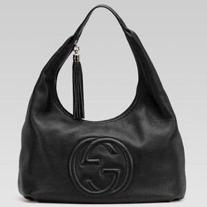 hermes paris wallets - Gucci Handbag - Authentic, Vintage, Black, Leather | eBay