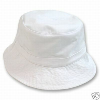 ee830a67 White Polo Style Floppy Bucket Hat Hats Cap Fishing Gilligan Halloween Sz  Sm/Med