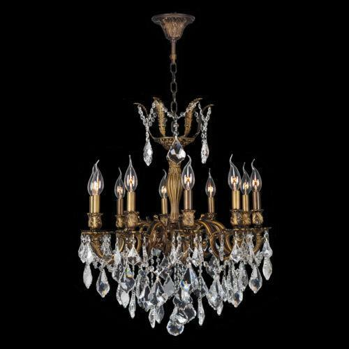 Crystal Chandelier Sale: Antique Bronze Crystal Chandelier
