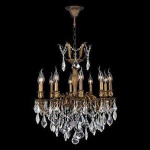 Antique crystal chandelier ebay antique bronze crystal chandelier aloadofball Images
