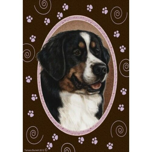 Paws House Flag - Bernese Mountain Dog 17051