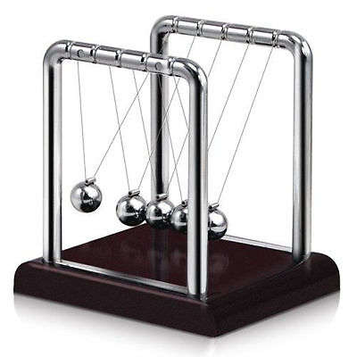 Newtons Cradle Steel Balance Ball Physics Science Pendulum Desk Fun Toy Gift