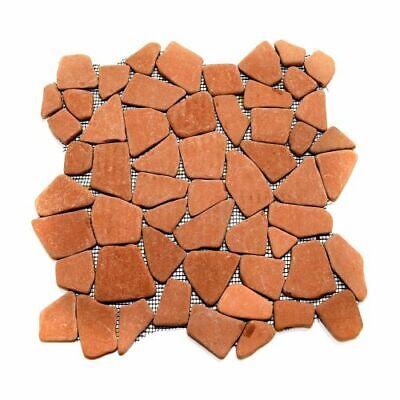 Natural Terracotta Earth Brown Flat Mosaic Stone Rock Tile - Floors Showers Bath