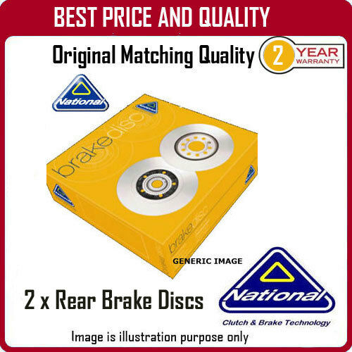 NBD1695  2 X REAR BRAKE DISCS  FOR LEXUS GS