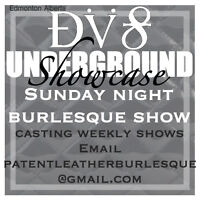 Weekly variety show looking for performers.