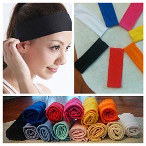 Lot Colors Yoga Fashion Elastic Hairband Headband Sweatband