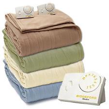 Biddeford Knit Fleece Electric Heated Warming Blankets Twin Full Queen King