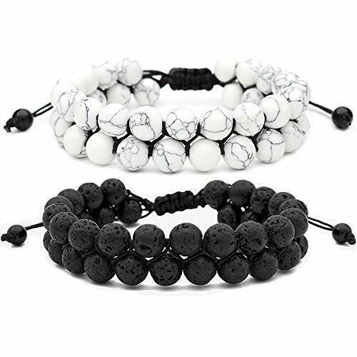 8mm double layer lava rock aromatherapy anxiety