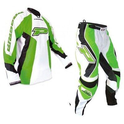 "Progrip MX- Motocross-Enduro Jeans & Shirt Green-White 38"" Waist 3XL Top"