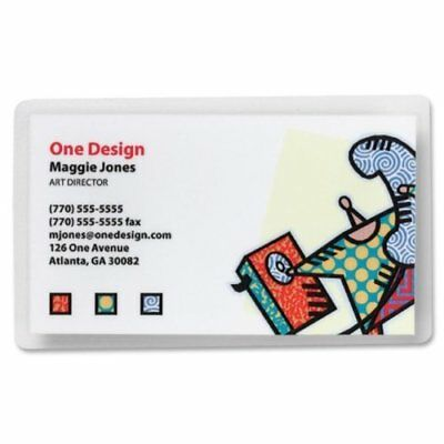 Business Source Business Card Laminating Pouch - 2.25 Width X 3.75 Length X 5