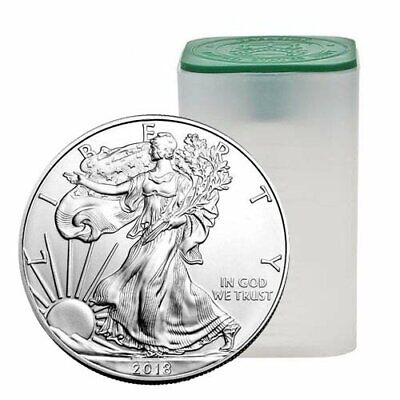 2018 American Silver Eagle Roll - 20 Troy Ounces - .999 Pure - Uncirculated
