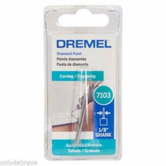 Dremel Diamond Round Point 2mm 1/8 Shank-7103 Carving /Engraving