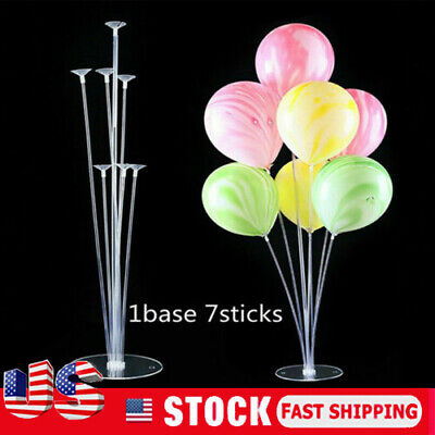 4 Set Plastic Balloon Accessory Base Table Support Holder Cup Stick Stand Party