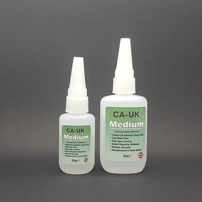 50 Gramos Ca-Uk Medio Cianoacrilato Instantánea Adhesivo CA024