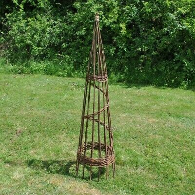 Spiral Willow Garden Obelisk (1.5m) Plant Support for Climbers