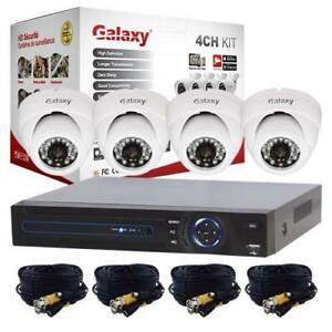 Galaxy 4CH 720P 4 in 1 HD 4 Dome Package