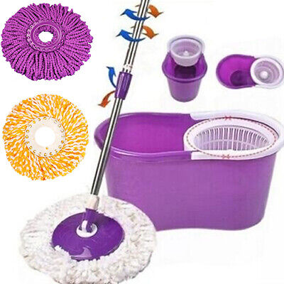 360 Rotating Head Easy Magic Microfiber Spinning Floor Mop Bucket Head Welcome Cleaning Tools