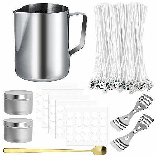 206 Pcs Candle Making Kit DIY Cotton Pouring Pot Supplies Candle Wicks Holder