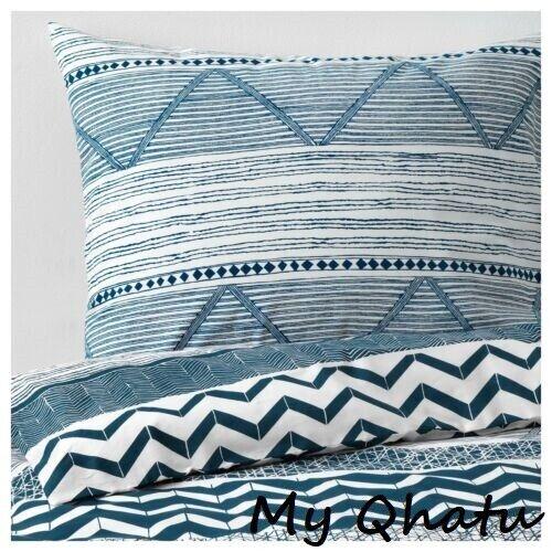 provinsros duvet cover pillowcase set denim blue