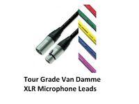 Van Damme - Tour Grade XLR Lead - Various Coloured Cable - 10 Metres Long