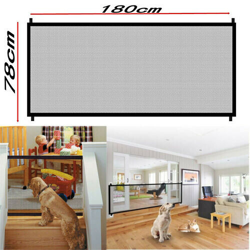 Pets Dog Cat Baby Safety Gate Mesh Fence Portable Guard Indoor Home Kitchen Net