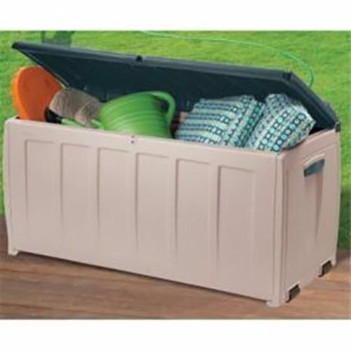 Keter Deluxe Plastic Storage Box Container Shed Outdoor Garden