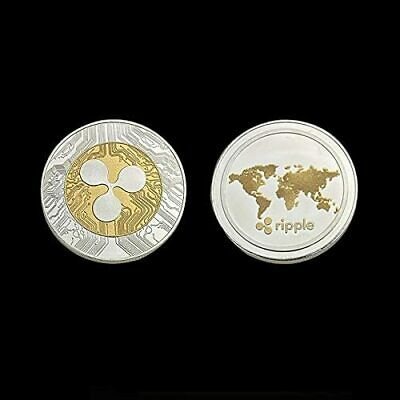 2 PCS- Ripple Commemorative Round Collector Coin XRP Coin With case gifts NEW