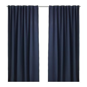 Ikea navy block-out curtains
