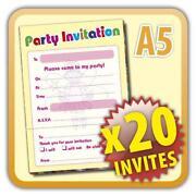 Fairy Party Invitations