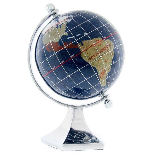 blue lapis world globe ebay