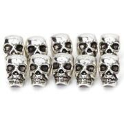 Silver Skull Beads