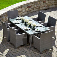 PATIO TABLE WITH 8 CHAIRS