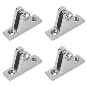 4 X Bimini Top Boat Deck Hinge Mount Fitting Deck Hardware 316 Stainless Steel