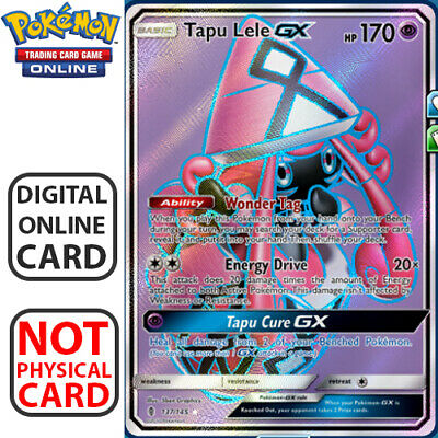 Tapu Lele GX Full Art 137/145 for Pokemon TCG Online Digital.