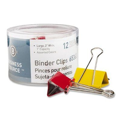 Business Source Binder Clip - Large - 2 Width - Steel - 12 Pack - Bsn65363
