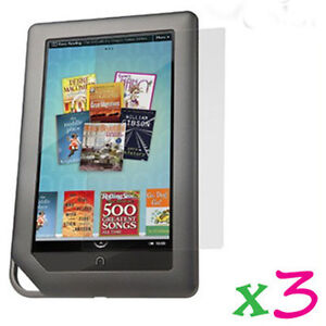 3-Clear-LCD-Screen-Protector-Film-Cover-Shield-Guard-Barnes-Noble-Nook-Color