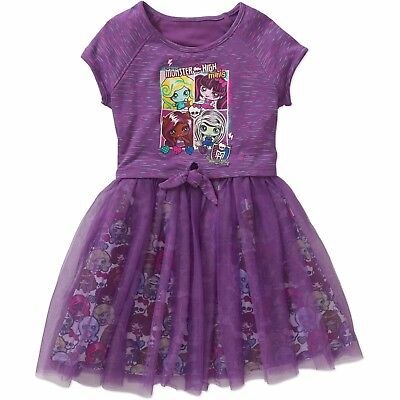 Toddler Girls Monsters High Tutu Dress Size 4/5 Costume Purple New Super - Monster Costumes For Girls