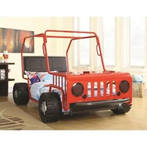 Coaster Furniture 400372 Jeep Youth Twin Bed Red OR Black Finish