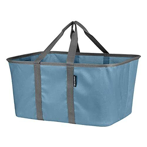 Collapsible Fabric Laundry Baskets - Foldable Pop Up Storage Container Denim