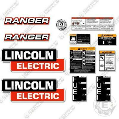 Lincoln Electric Ranger Decal Kit Welder Stickers - 7 Year 3m Vinyl