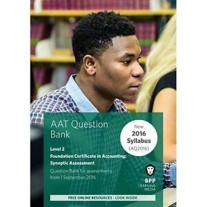 AAT Foundation Certificate in Accounting Level 2 Synoptic Assessment: Question …