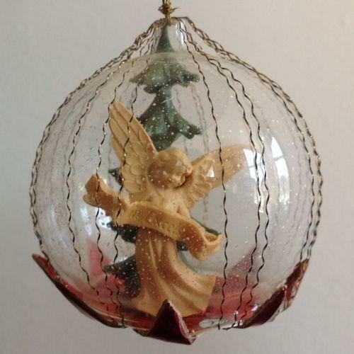vintage glass angel ornament